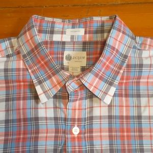 Large J. Crew Light Colored Button-Down Shirt